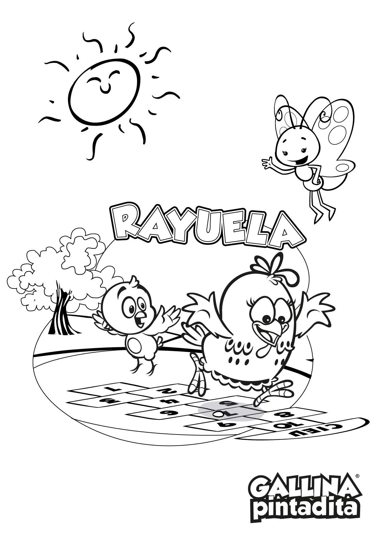 Dibujos para colorear  Sitio Oficial de la Gallina Pintadita