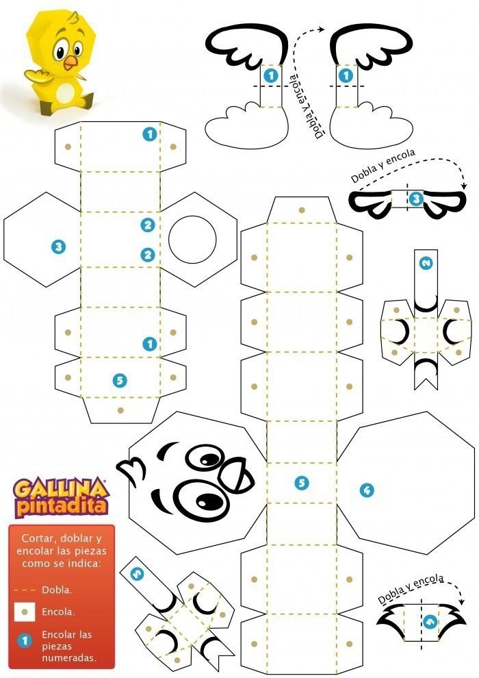 Paper Toy - Pollito